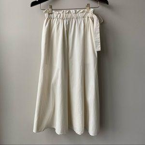 Aritzia Wilfred Striped Paper Bag Cotton Skirt
